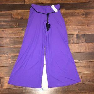 Women's sz medium Ralph Lauren purple jewel pants